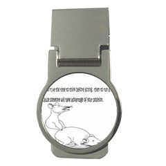 Better To Take Time To Think Money Clip (round)