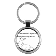 Better To Take Time To Think Key Chain (Round)