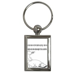 Better To Take Time To Think Key Chain (Rectangle)