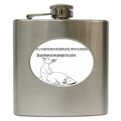 Better To Take Time To Think Hip Flask