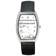 Better To Take Time To Think Tonneau Leather Watch
