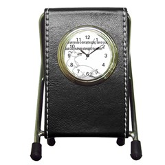 Better To Take Time To Think Stationery Holder Clock