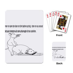Better To Take Time To Think Playing Cards Single Design