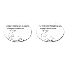 Better To Take Time To Think Cufflinks (Oval)