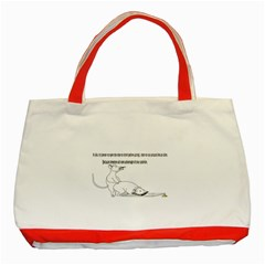 Better To Take Time To Think Classic Tote Bag (Red)