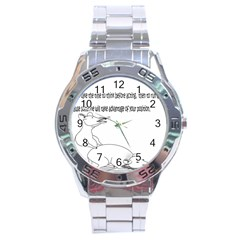 Better To Take Time To Think Stainless Steel Watch