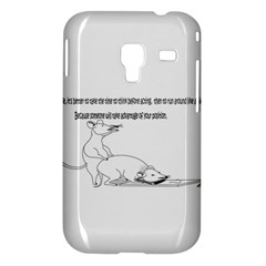 Better To Take Time To Think Samsung Galaxy Ace Plus S7500 Hardshell Case