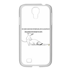 Better To Take Time To Think Samsung GALAXY S4 I9500/ I9505 Case (White)