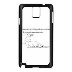 Better To Take Time To Think Samsung Galaxy Note 3 N9005 Case (black)