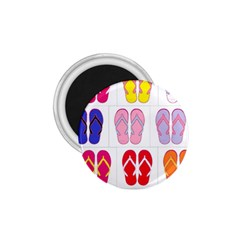 Flip Flop Collage 1 75  Button Magnet