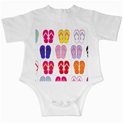 Flip Flop Collage Infant Bodysuit