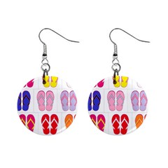 Flip Flop Collage Mini Button Earrings