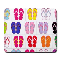 Flip Flop Collage Large Mouse Pad (Rectangle)