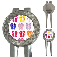 Flip Flop Collage Golf Pitchfork & Ball Marker