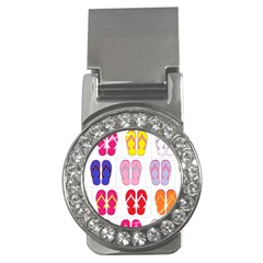 Flip Flop Collage Money Clip (CZ)