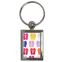 Flip Flop Collage Key Chain (rectangle)