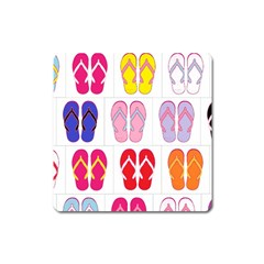 Flip Flop Collage Magnet (Square)