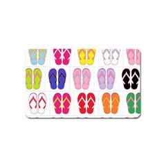 Flip Flop Collage Magnet (Name Card)