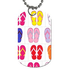 Flip Flop Collage Dog Tag (One Sided)