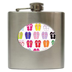 Flip Flop Collage Hip Flask