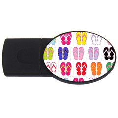 Flip Flop Collage 1GB USB Flash Drive (Oval)