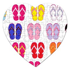 Flip Flop Collage Jigsaw Puzzle (Heart)