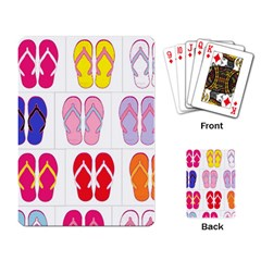 Flip Flop Collage Playing Cards Single Design