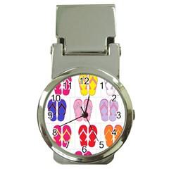 Flip Flop Collage Money Clip with Watch