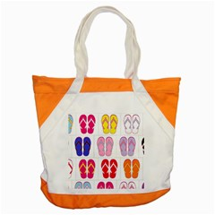 Flip Flop Collage Accent Tote Bag