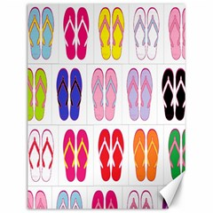 Flip Flop Collage Canvas 12  x 16  (Unframed)