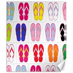Flip Flop Collage Canvas 20  X 24  (unframed)