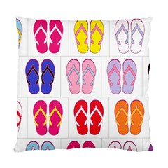 Flip Flop Collage Cushion Case (Single Sided)
