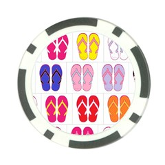 Flip Flop Collage Poker Chip (10 Pack)