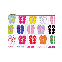 Flip Flop Collage Cosmetic Bag (large)