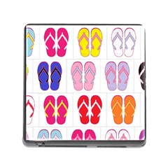 Flip Flop Collage Memory Card Reader With Storage (square)