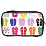 Flip Flop Collage Travel Toiletry Bag (Two Sides) Front