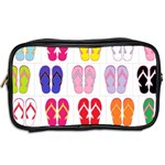 Flip Flop Collage Travel Toiletry Bag (Two Sides) Back