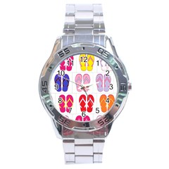Flip Flop Collage Stainless Steel Watch
