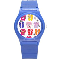 Flip Flop Collage Plastic Sport Watch (Small)