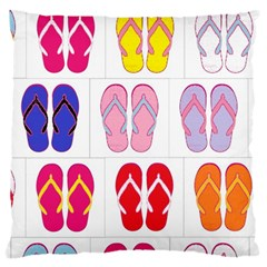 Flip Flop Collage Large Cushion Case (two Sided)