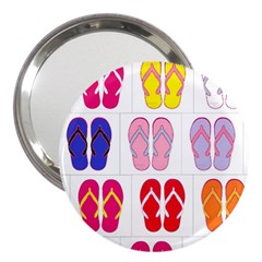 Flip Flop Collage 3  Handbag Mirror