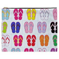 Flip Flop Collage Cosmetic Bag (XXXL)