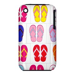 Flip Flop Collage Apple iPhone 3G/3GS Hardshell Case (PC+Silicone)