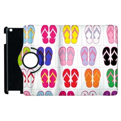 Flip Flop Collage Apple iPad 3/4 Flip 360 Case