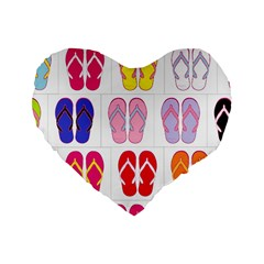 Flip Flop Collage 16  Premium Heart Shape Cushion
