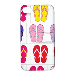 Flip Flop Collage Apple iPhone 4/4S Hardshell Case with Stand