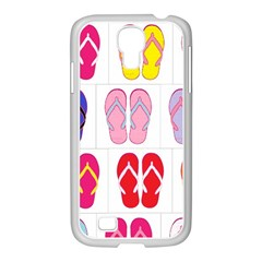 Flip Flop Collage Samsung GALAXY S4 I9500/ I9505 Case (White)