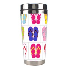 Flip Flop Collage Stainless Steel Travel Tumbler