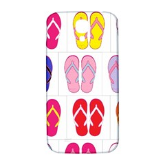 Flip Flop Collage Samsung Galaxy S4 I9500/I9505  Hardshell Back Case