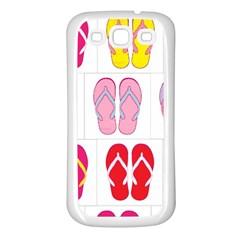 Flip Flop Collage Samsung Galaxy S3 Back Case (White)